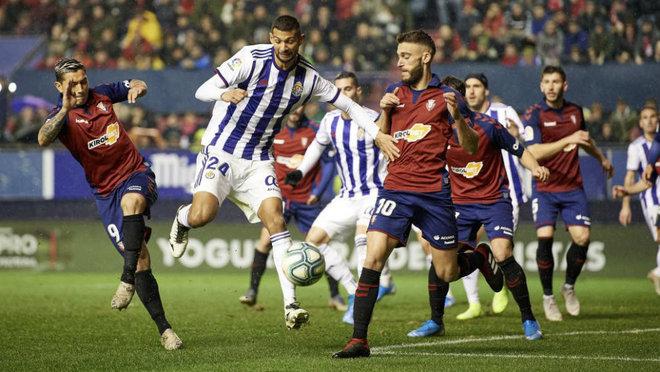 Joaquín, durante el partido de Osasuna.
