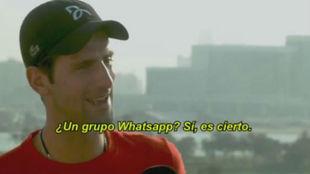 Djokovic, durante la entrevista en Dubái