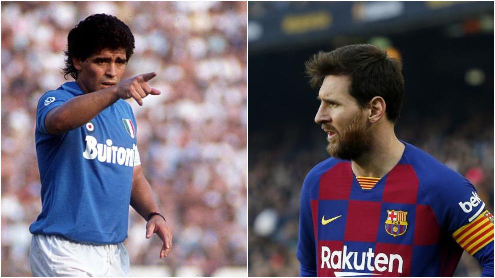 Maradona y Leo Messi.