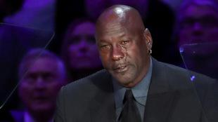 Michael Jordan llora en el homenaje a Kobe Bryant