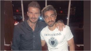 Pizarro y Beckham.