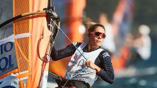 Blanca Manchón, en plena competición.