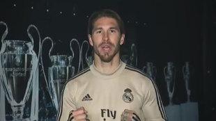 Sergio Ramos, capitán del Real Madrid, protagonista del vídeo.