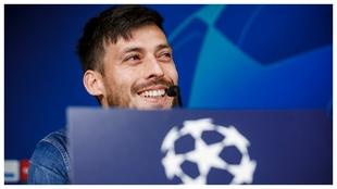 Silva, durante la rueda de prensa en el Bernabéu.