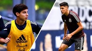 Diego Lainez y Edson Álvarez