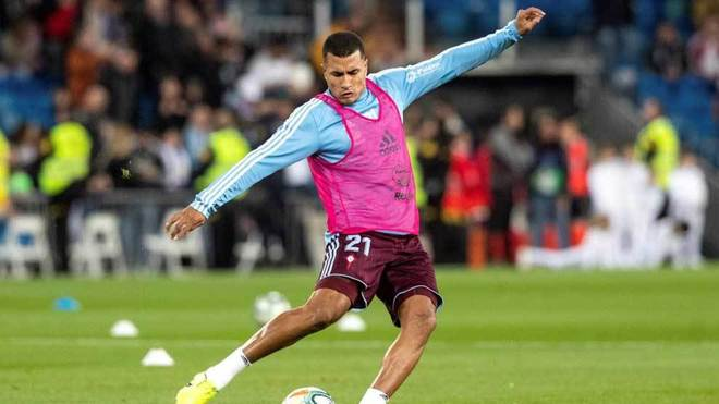 Murillo, in a warm-up with Celta.