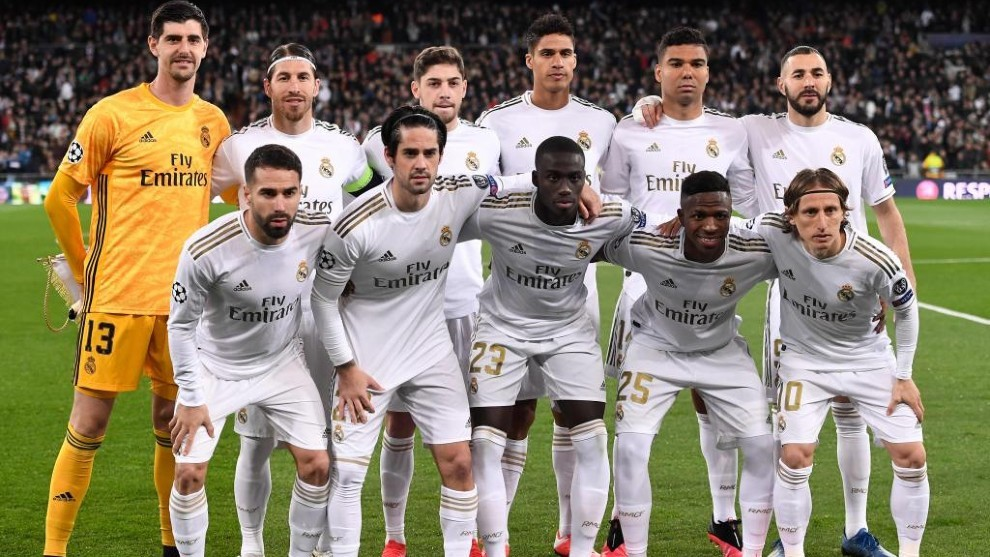 Once del Real Madrid ante el Manchester City.