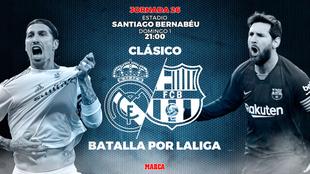 Real Madrid vs Barcelona: horario y dónde ver por televisión el...