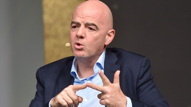 Infantino discusses FIFA's new plans.