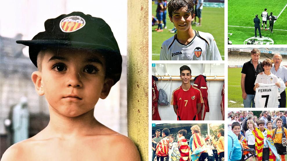 Fotos del album familiar de Ferran, en diversas etapas como jugador.