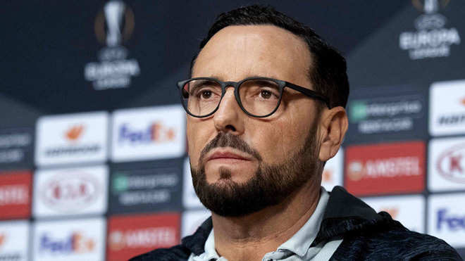 Bordalas during his post-match press conference