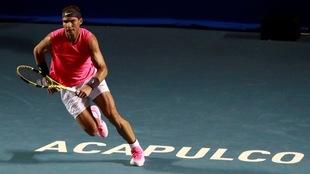 Rafael Nadal durante los cuartos de final ante Soon Woo Kwon.