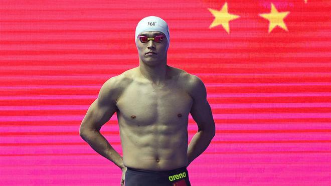 Sun Yang, durante los Campeonatos del Mundo de 2019.