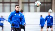 Dani García durante un entrenamiento