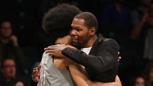 Kevin Durant durante un partido de los Brooklyn Nets.