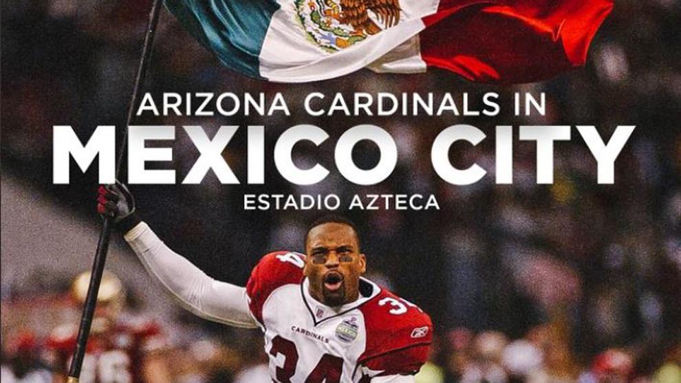 Cardinals de Arizona jugarán en el Estadio Azteca