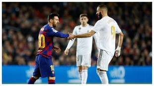 Zidane y Messi, en el Clásico de ida