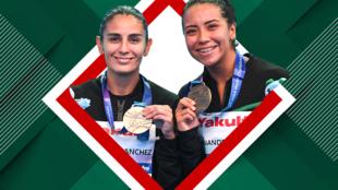 Paola Espinosa y Melany Hernández se quedan con la plata.