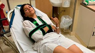 Salazar, descansando tras dolorosa caída.