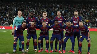 El once del Barça en el Bernabéu