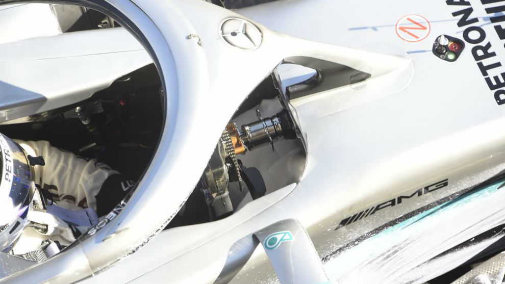 El sistema DAS de Mercedes, en el test invernal de Barcelona.