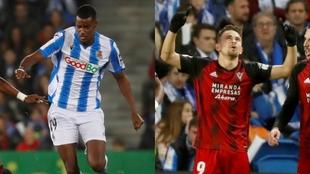Isak y Matheus, los dos máximos goleadores de la Copa del Rey.