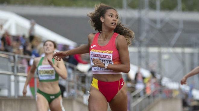 La atleta María Vicente (18 años), en el Europeo sub 20 de 2019.