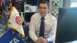 Emilio García Silvero, en su despacho de la FIFA.