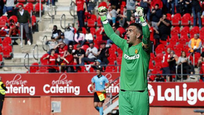 Manolo Reina, en un partido con el Mallorca esta temporada.