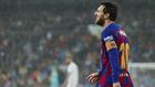 Leo Messi, durante el partido contra el Real Madrid en el Bernabéu.
