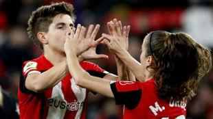 Maite Oroz, a la derecha, ya ha fichado por el Real Madrid de la...