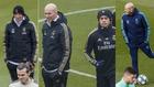 Zidane, con Bale, Jovic y Mariano