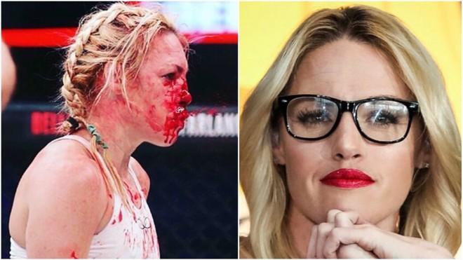Heather Hardy, antes y después de su último combate.