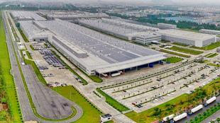 La fábrica de Volvo Cars en Luqiao (China).