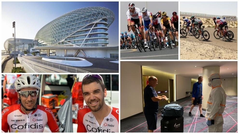Coronavirus: la vida de los ciclistas en una planta de hotel