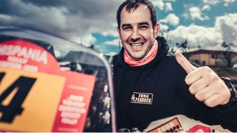 Alberto Mártínez, en el Hispania Rally.