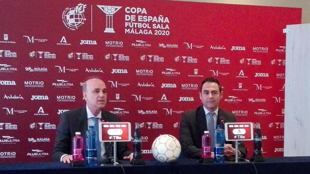 Pedro Galán y Velasco Carballo, en la presentación del soporte...