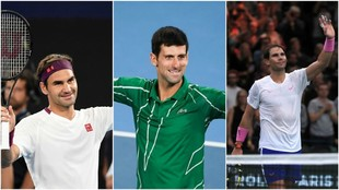 Federer, Djokovic y Nadal