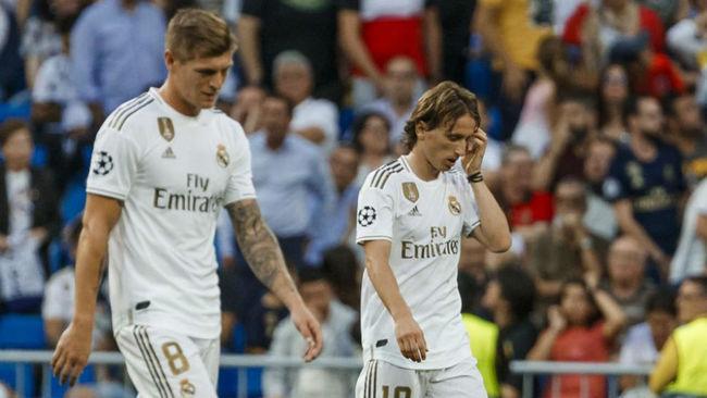 Kroos y Modric, en el partido ante el Brujas de la presente temporada.