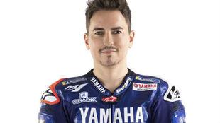 Jorge Lorenzo, vestido como probador de Yamaha.