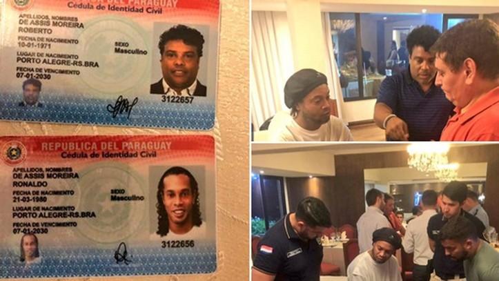 Ronaldinho sale sin cargos tras declarar ocho horas sobre su pasaporte paraguayo