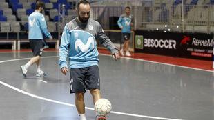 Ricardinho, en el entrenamiento previo a esta Copa de España.