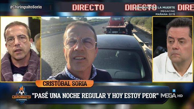 Cristóbal Soria sufrió un peligroso accidente en la carretera tras...
