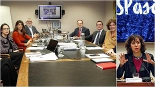 El nuevo TAD, en su primera reunión, junto a Irene Lozano, presidenta...