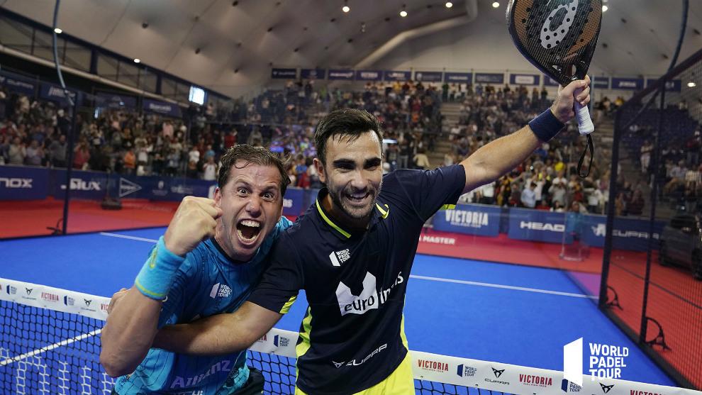 Paquito Navarro y Pablo Lima celebran su victoria