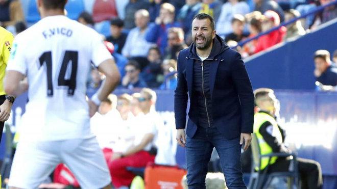 Diego Martínez, durante el partido del Ciutat de València.