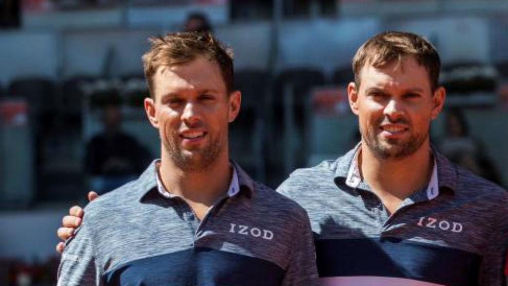 Los Bryan en el Mutua Madrid Open.