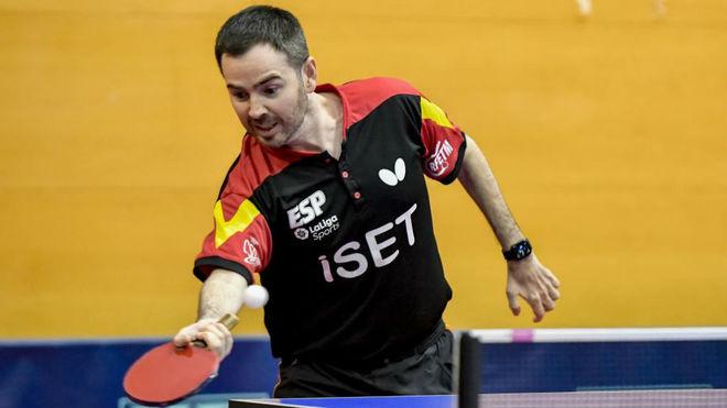 Álvaro Valera, durante el Open de España de la Costa Brava.