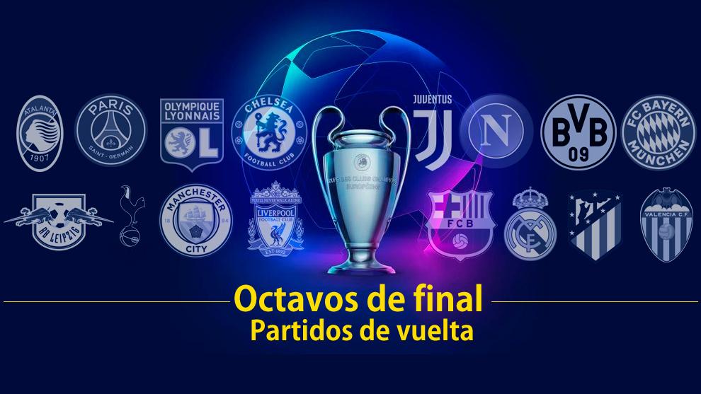 ropa cosa desenterrar  Calendario Champions Hoy: Partidos, resultados, horario y dónde ver en TV  la vuelta de los octavos de la Champions | Marca.com