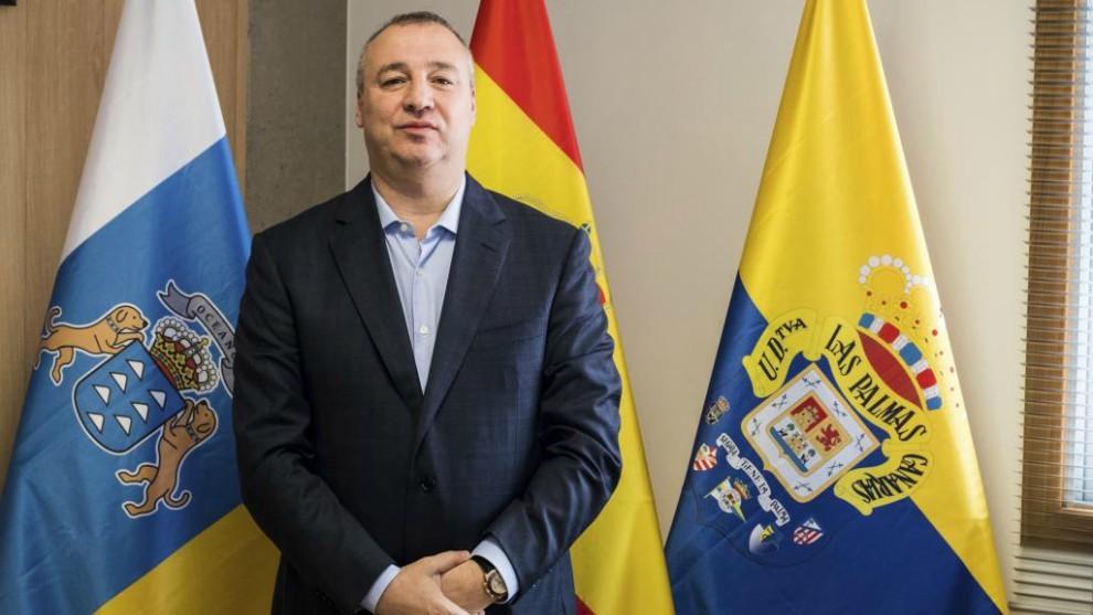 El presidente Miguel Ángel Ramírez posa para MARCA